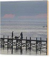 Navarre Beach Sunset Pier 12 Wood Print