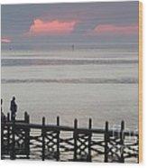 Navarre Beach Sunset Pier 20 Wood Print