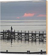 Navarre Beach Sunset Pier 21 Wood Print