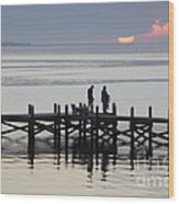 Navarre Beach Sunset Pier 26 Wood Print