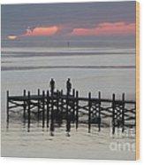 Navarre Beach Sunset Pier 28 Wood Print
