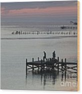 Navarre Beach Sunset Pier 30 Wood Print