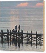 Navarre Beach Sunset Pier 35 Wood Print