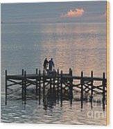 Navarre Beach Sunset Pier 37 Wood Print