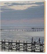 Navarre Beach Sunset Pier 8 Wood Print
