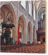 Nave Of The Church Of Our Lady Wood Print