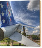 Navy A-7 Fighter Static Display Wood Print