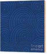 Navy Blue Abstract Wood Print