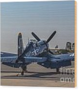 Navy Corsair Wood Print