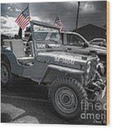 Navy Jeep Wood Print