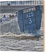 Navy Landing Craft 325 Wood Print