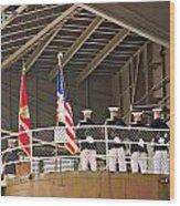 Navy Men Wood Print