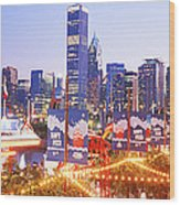 Navy Pier Chicago Il Wood Print