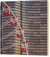 Navy Pier Wheel Chicago Wood Print