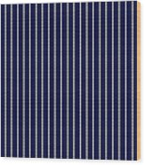 Navy Pinstripe 1 Wood Print