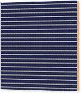 Navy Pinstripe 2 Wood Print