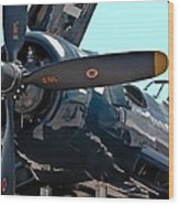 Navy Props Wood Print