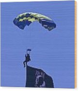 Navy Seal Leap Frogs Pow Flag Wood Print
