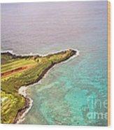 Nawiliwili Lighthouse - Aerial Wood Print