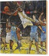 NBA Wood Print by Georgi Dimitrov