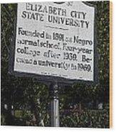 Nc-a37 Elizabeth City State University Wood Print