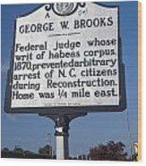 Nc-a54 George W. Brooks Wood Print