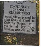 Nc-bbb3 Confederate Channel Obstructions Wood Print