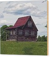 Nc Log Home 2 Wood Print