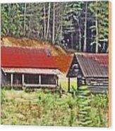 Nc Mountains Wood Print