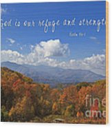 Nc Mountains With Scripture Wood Print