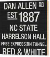 Nc State College Town Wall Art Wood Print