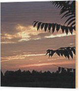 Nc Sunset Wood Print