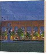 Ncaa Hall Of Champions Dusk Wood Print