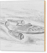 Ncc-1701 Enterprise Wood Print