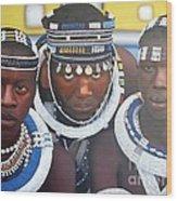 Ndebele Initiates Wood Print
