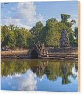 Neak Poan Temple Wood Print