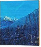 Near Fernie British Columbia  Wood Print