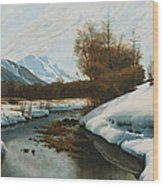 Near La Punt St Morritz In The Engadine Valley Wood Print