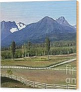Near Smithers Bc Wood Print
