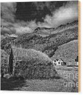 Near The Hill Wood Print