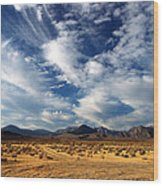 Near The Intersection Of God And The Eastern Sierras Wood Print