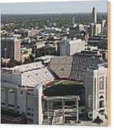 Nebraska Cornhuskers Stadium Lincoln Wood Print