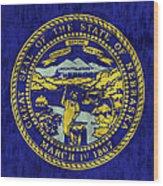 Nebraska Flag Wood Print by World Art Prints And Designs
