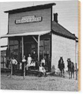 Nebraska Grocery Store Wood Print