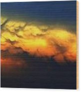 Nebraska Mammatus Sunset Wood Print