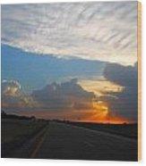 Nebraska Sunset Wood Print