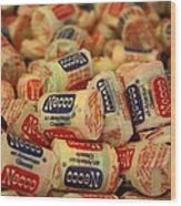 Necco Wafers Wood Print