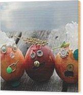 Nectarines At The Lake Wood Print