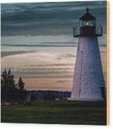 Ned's Point Light Wood Print