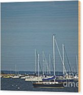 Ned's Point Lighthouse With Sailboats Wood Print